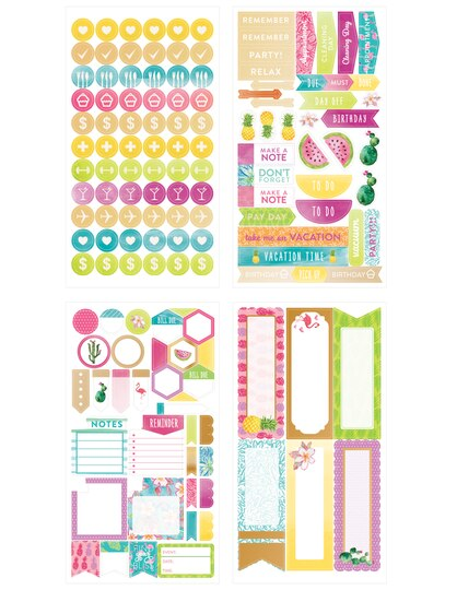 Creative year tropical stickers by recollections creative year tropical sticker sheets by recollections