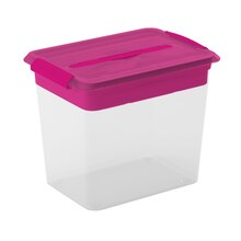 Cre8ted Space Latchmate Storage Box with Tray, 26 qt. Pink