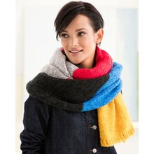 Lion Brand® Wool-Ease® Thick & Quick® Easy Color Block Knit Scarf, medium