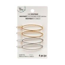 Silver & Gold Oval Barrettes By Bead Landing