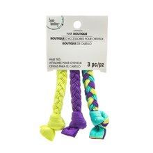 Purple & Citron Braided Hair Ties By Bead Landing