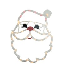 "18"" Lighted Santa Claus Face Christmas Window Silhouette Decoration"