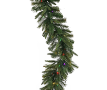 6' Pre-Lit Battery Operated Mixed Cashmere Pine Artificial Christmas Garland, Multi LED Lights
