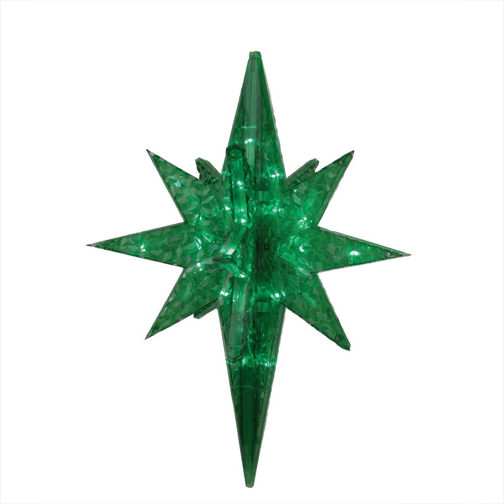 19 led lighted green twinkling 3d bethlehem star hanging decoration mozeypictures Image collections