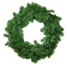 "30"" Battery Operated Canadian Pine Artificial Christmas Wreath -Clear LED Lights"