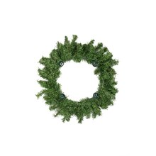 "12"" Two-Tone Pine Artificial Christmas Advent Wreath"