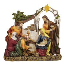"14.5"" Inspirational Religious Christmas Holy Family and Three Kings Nativity Scene"