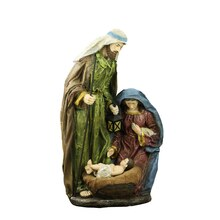 """20"""" Lighted Religious Holy Family Nativity Statue with Lantern"""
