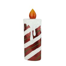 "13.75"" LED Candy Cane Candle Decoration"