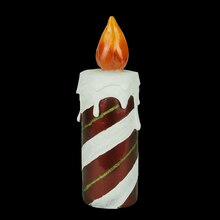 "9.75"" LED Candy Cane Striped Candle"