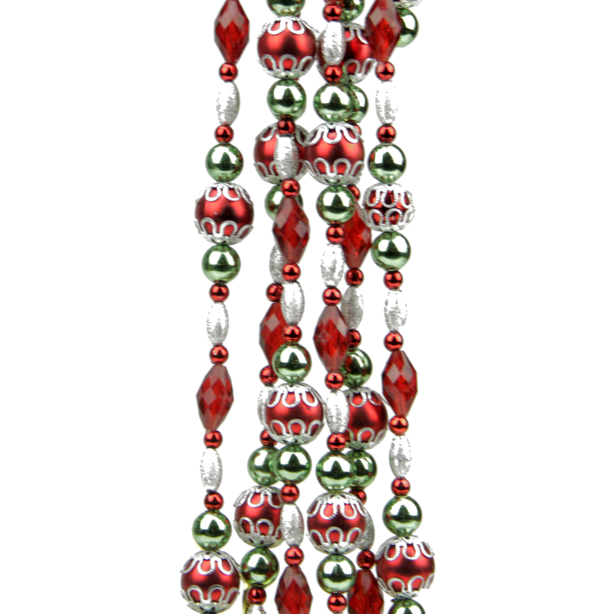 Dazzling diva red green silver mulit finish beaded