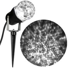 LightShow Kaleidoscope Projection Spotlight, Turquoise White