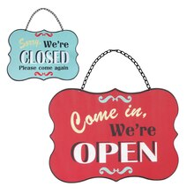Global Chic Open & Closed Wall Sign by Ashland