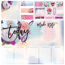 Watercolor-Inspired Planner Sticker Box By Recollections