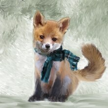 Fox Canvas Painting Kit By Artist's Loft Finished
