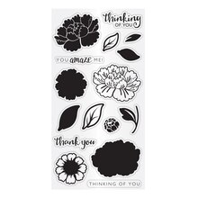 Hampton Art Clear Layering Stamps, Flower Amaze