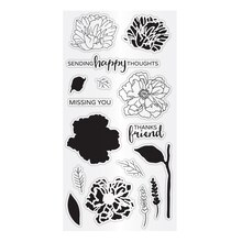 Hampton Art Clear Layering Stamps, Flower Happy