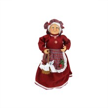 "17"" Mrs. Claus with Basket of Sweets Christmas Tree Topper/Table Top Decor"