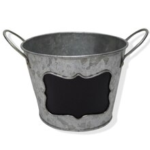 Round Galvanized Bucket with Chalkboard By Ashland