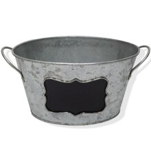 Oval Galvanized Bucket with Chalkboard By Ashland