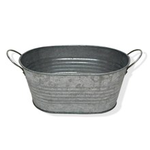 Small Oval Galvanized Bucket By Ashland