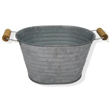 Large Oval Galvanized Bucket By Ashland
