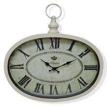 Antique White Wall Clock By Ashland