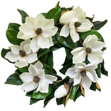 White Magnolia Wreath By Ashland