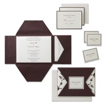 Gartner Studios Chocolate &Ivory Deluxe Invitation Kit, 30ct