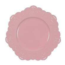 Pink Doily Charger By Ashland