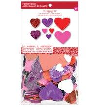 Fancy Heart Glitter & Foam Sticker Bag By Celebrate It Package