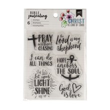 American Crafts Bible Journaling Clear Stamps, God Is Love