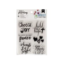 American Crafts Bible Journaling Clear Stamps, Choose Joy