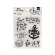 American Crafts Bible Journaling Clear Stamps, Be Still