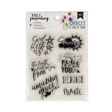 American Crafts Bible Journaling Clear Stamps, God with Us