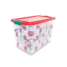 Homz 140 Ornaments Holiday Storage Tote