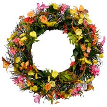 Multicolored wildflower & Butterfly Wreath By Ashland