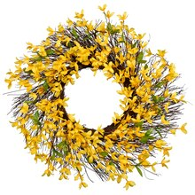 Yellow Forsythia Wreath By Ashland