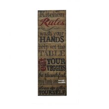 Kitchen Rules Wall Sign By Ashland