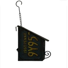 Small License Plate Wall Birdhouse By Ashland