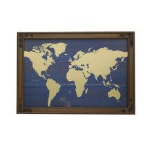 World Map Wall Decor Accent By Ashland