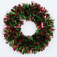 Christmas Tinsel Wreath, medium