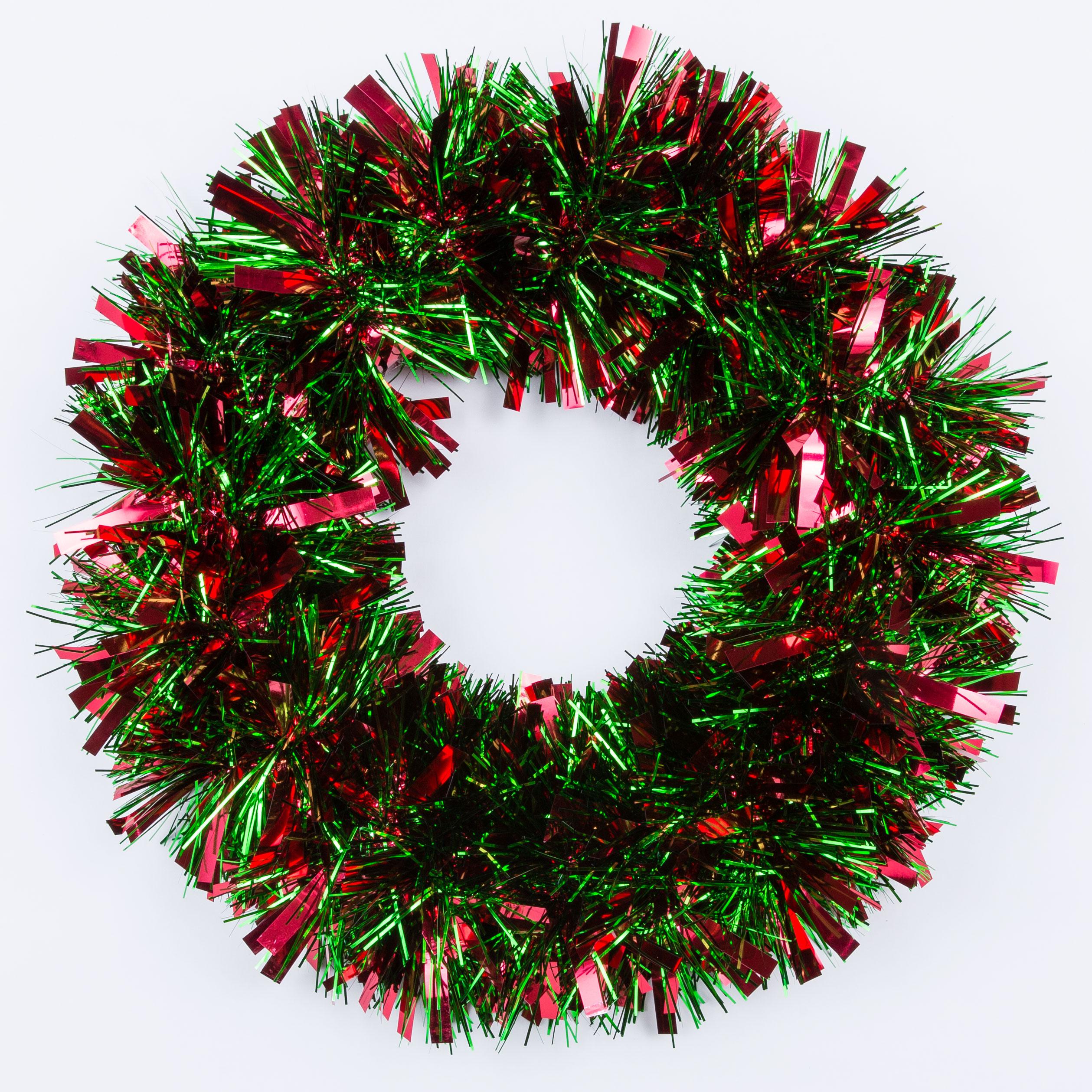 christmas tinsel wreath medium - Wreath Storage Box
