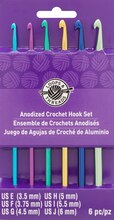 Anodized Crochet Hook Set by Loops & Threads, E-J