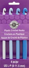Plastic Crochet Hook Set by Loops & Threads, L-P