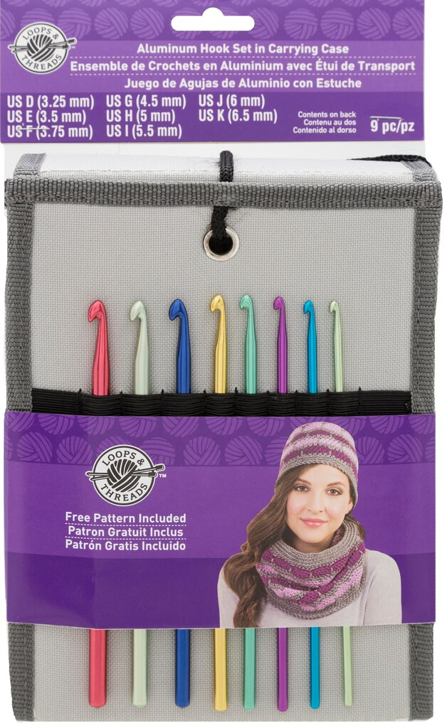 Aluminum Crochet Hook Set in Carry Case by Loops & Threads®
