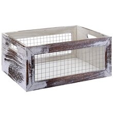 Global Chic Medium Wood & Wire Crate by Ashland