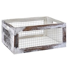 Global Chic Large Wood & Wire Crate by Ashland