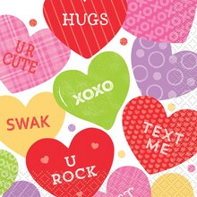 Candy Valentine Beverage Napkins, 16ct