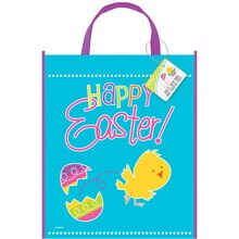 "Large Plastic Spring Chick Easter Goodie Bag, 13""' x 11"""